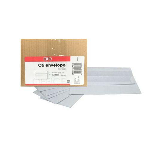 ARO C6 Seal Easi Envelopes White 500-Pack
