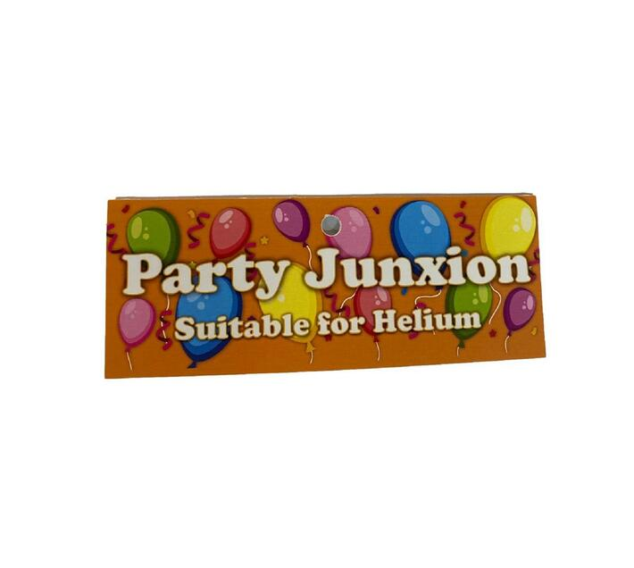 Party- Junxion Latex Helium Balloons - Pack of 6 - Silver Grey