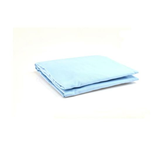 STANDARD CAMP COT FITTED SHEET - BLUE