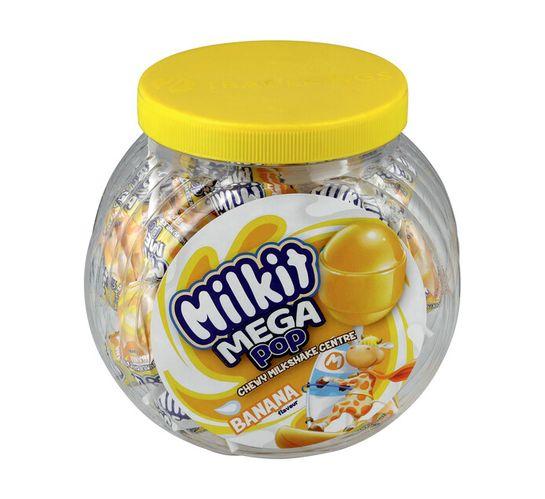 Milkit Mega Lollipop Jar Banana (24's)