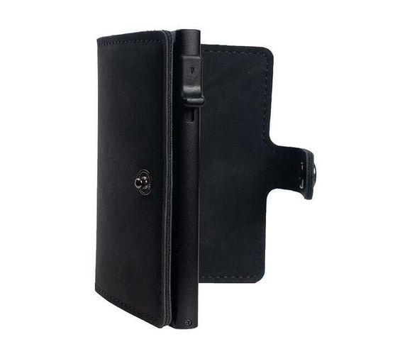 Slim Pop-Up Clip Leather Card Wallet (Black)