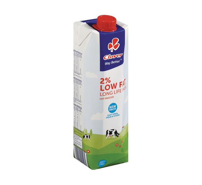 Clover UHT Milk 2% Low Fat (6 x 1L)