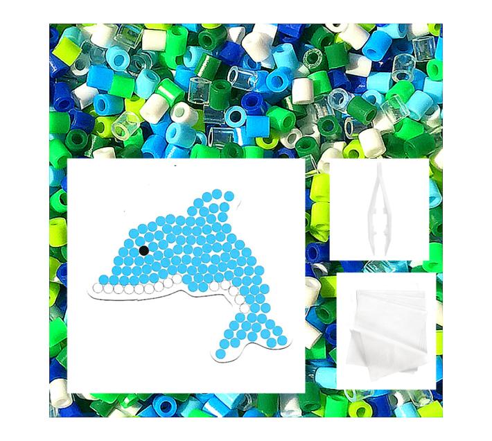 JKA - Iron On Bead Craft Toy - Double Combo Kit - Fishy & Dolphin