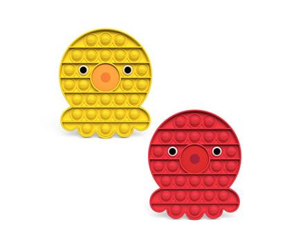 Octopus Pop and Push Bubble Fidget Sensory Toy - Yellow