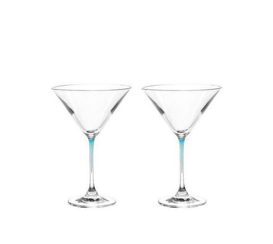 Leonardo Cocktail Glass with Blue Stem LA Perla Set of 2