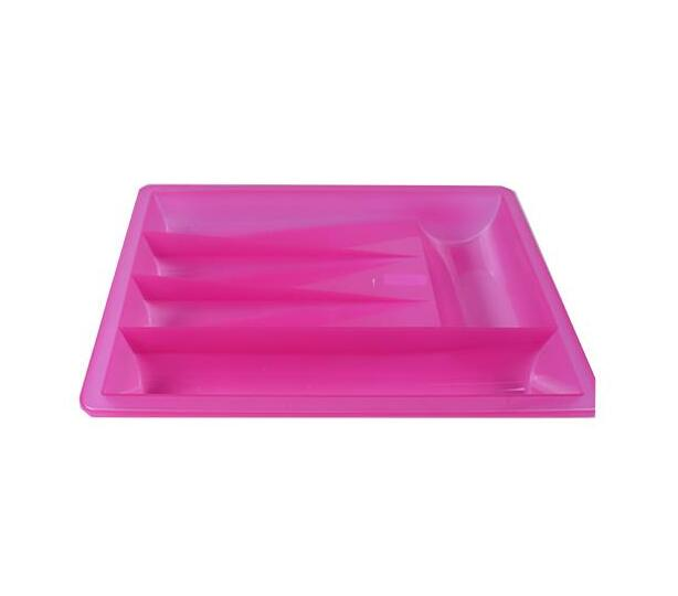 Large pink cutlery Tray