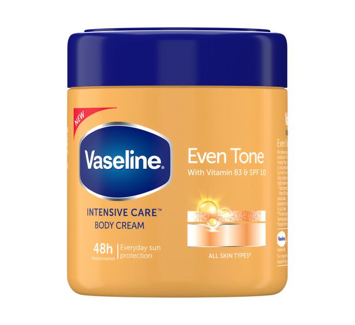 Vaseline Body Cream Even Tone (6 x 400ml)
