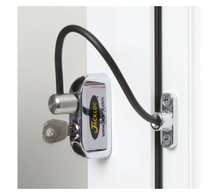 Jacklok Window Restrictor Chrome