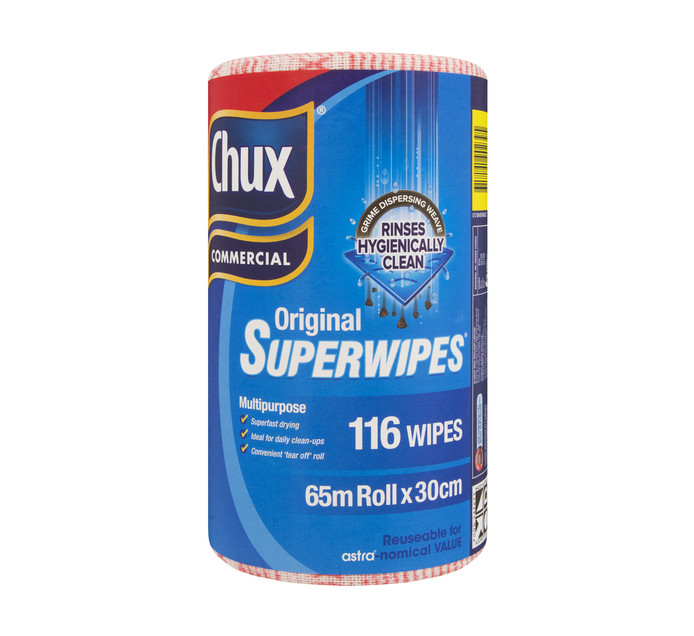 Chux Super Wipes Red (1 x 65m x 30cm)