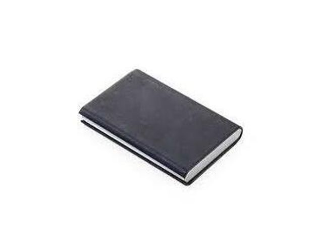 Troika Credit Card Case with RFID Shielding Marble Safe Black