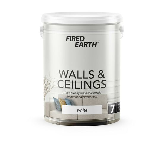 Fired Earth 5 l Walls and Ceilings Paint White