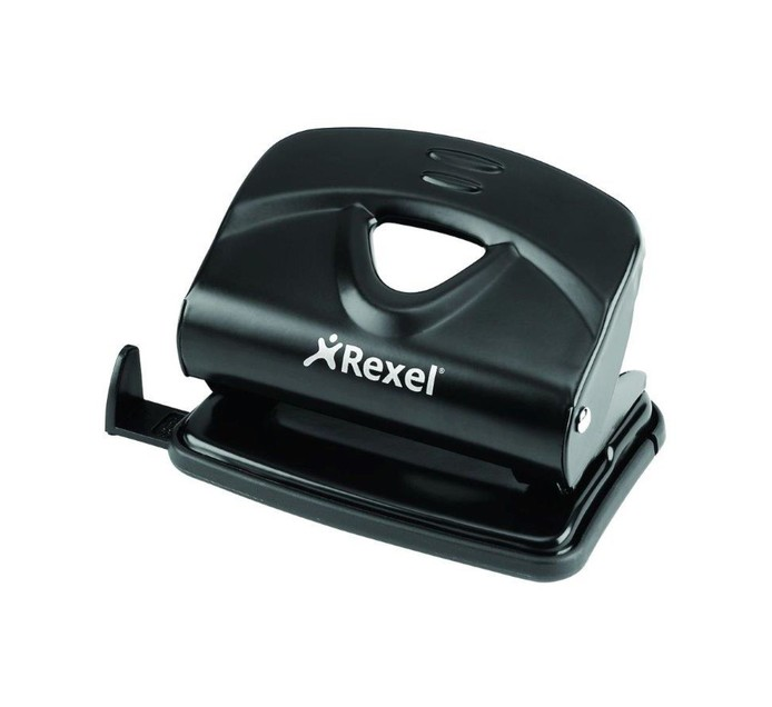 Rexel V220 2 Hole 20 Sheet Punch Black Each Black