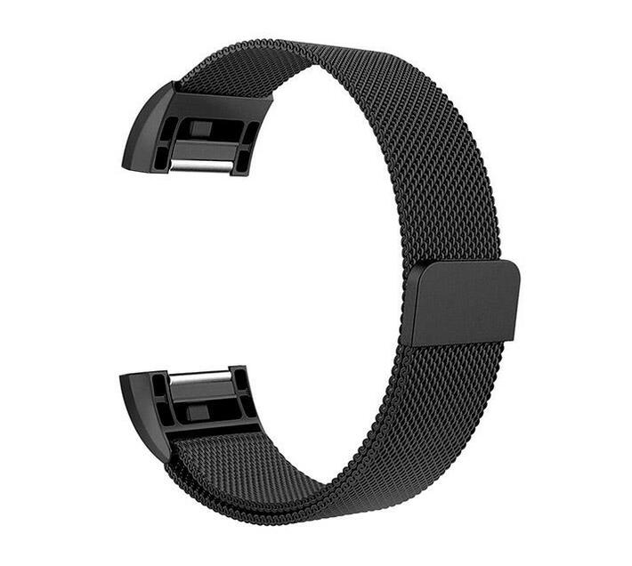 Zonabel Fitbit Charge 2 Milanese Strap - Black (Large)
