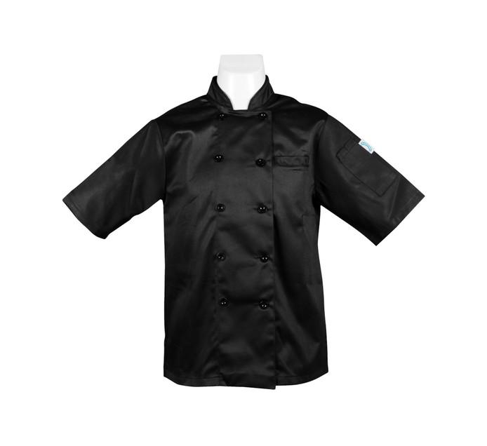 Bakers & Chefs Medium Short Sleeve Chef Jacket Black
