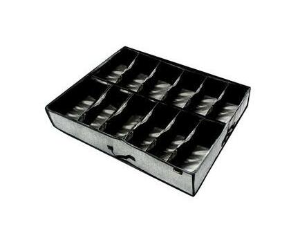 HomeFX Under Bed 12 Pair Shoe Organizer