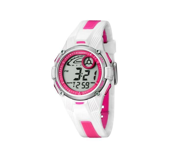 Calypso Digital Bicolor Kids Watch White & Pink - Tweens Collection