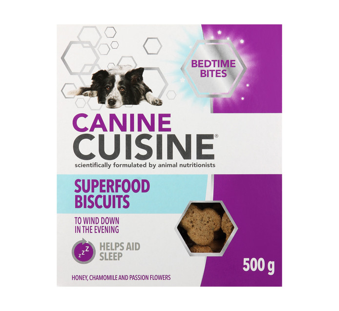 Canine Cuisine Superfood Biscuits Bedtime Bites (1 x 500g)