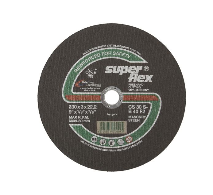 SUPERFLEX CUTTING DISC STONE 230X3X22.2