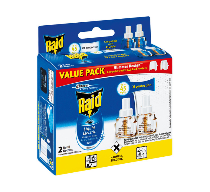 Raid Electric Insect Killer Refill (2 x 33 ml)