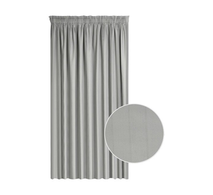 Cq Classic Collection 230 x 218 cm Cassidy Taped Curtain Grey