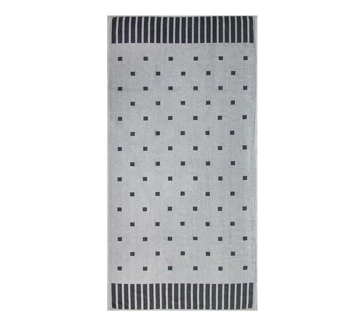 Polka Squares Beach Towel 90x180cms 700gms - Grey