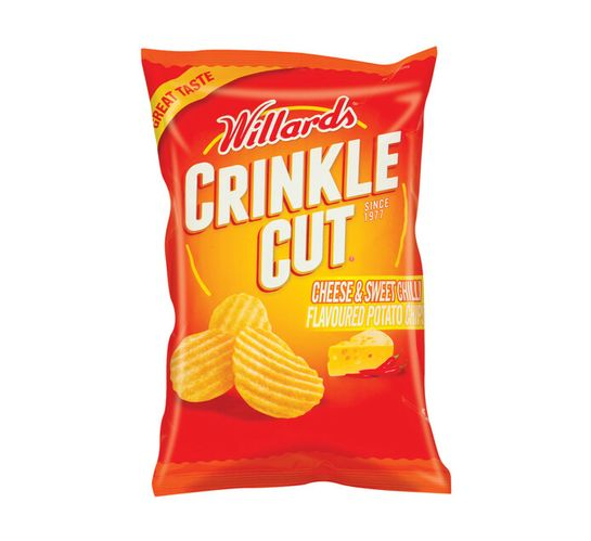 Willards Crinkle Cut Potato Chips Cheese and Sweet Chilli (18 x 125g)
