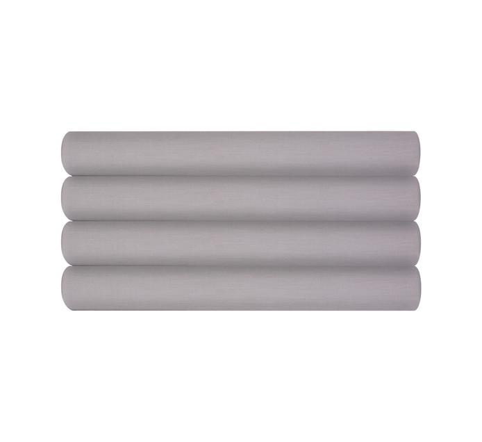 Sheraton Double/Queen Cotton Percale Flat Sheet Steel grey