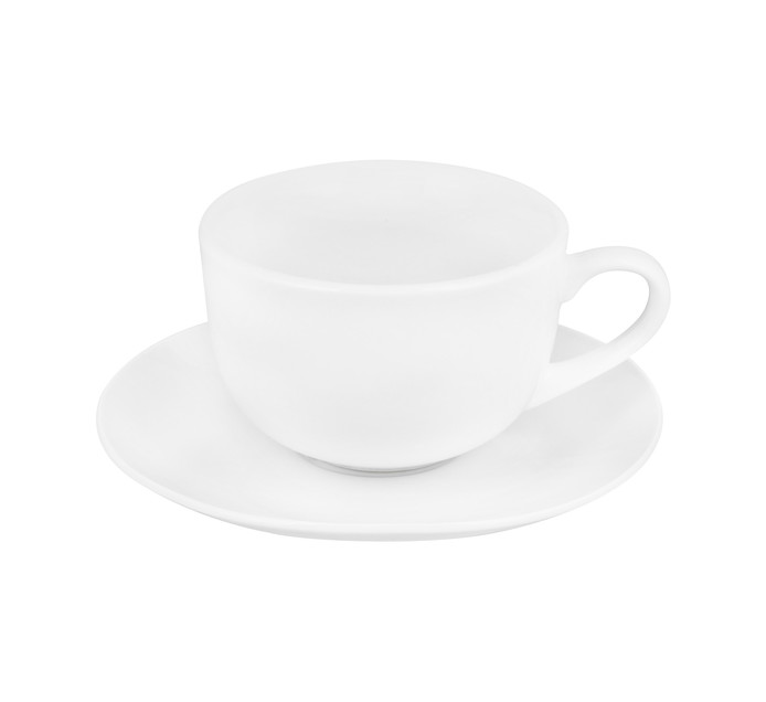Basic White 8-Piece Tea Cup and Saucer Set