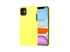 GOOSPERY Jelly Fluorescent TPU Cover For iPhone 11 (Yellow)