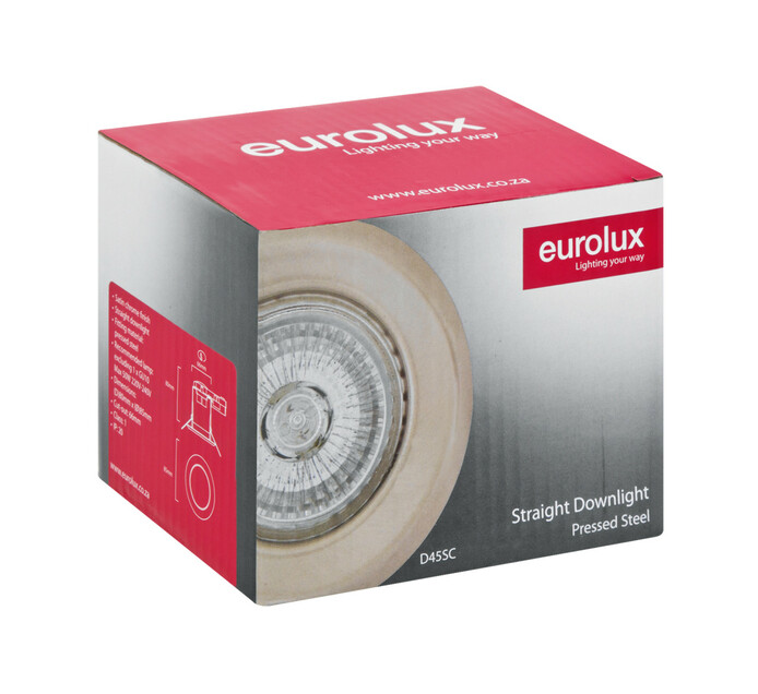EUROLUX GU10 Straight Downlighter