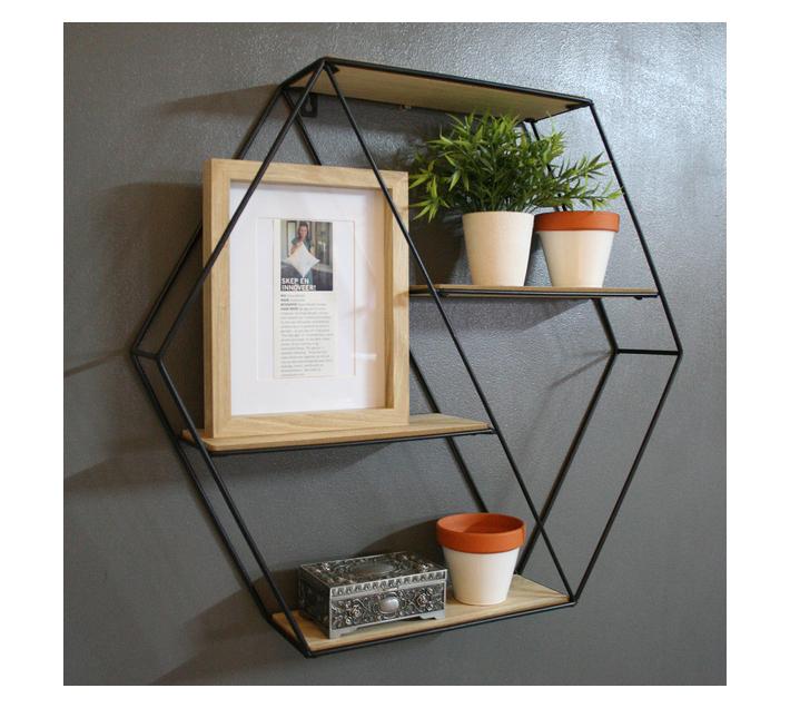 HouzeComfort Hexagon Decorative Wall Shelves and Shelf