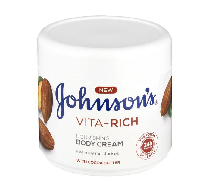 Johnsons Vita Rich Body Cream Nourishing Cocoa (1 x 350ml)