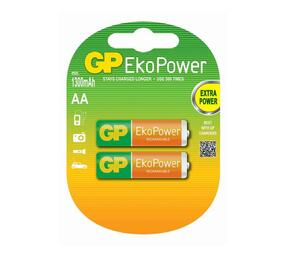 GP EKO Power Rechargeable Nimh AA 1.2V 1050mAh Card Of 2