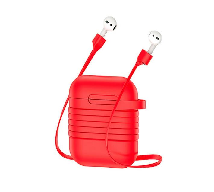 Baseus Anti-Loss Strap & case for Apple AirPods - Red
