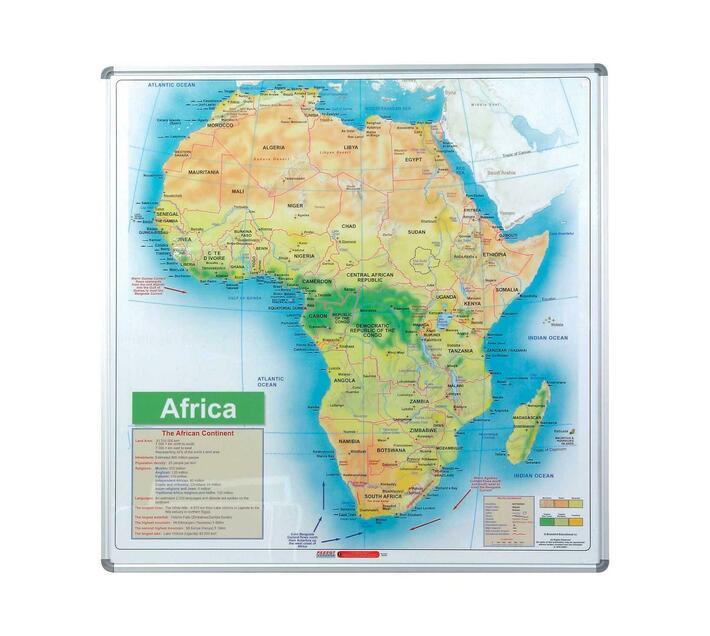 PARROT PRODUCTS Africa Map (1230*1230mm, Magnetic White)