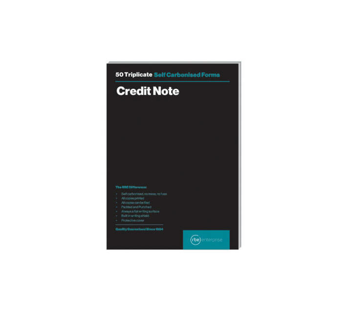 RBE: A5 Credit Note Triplicate Pads (Pack of 3)