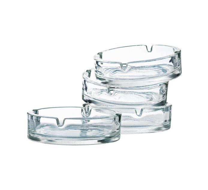 REGENT 4 Pack Glass Ashtray