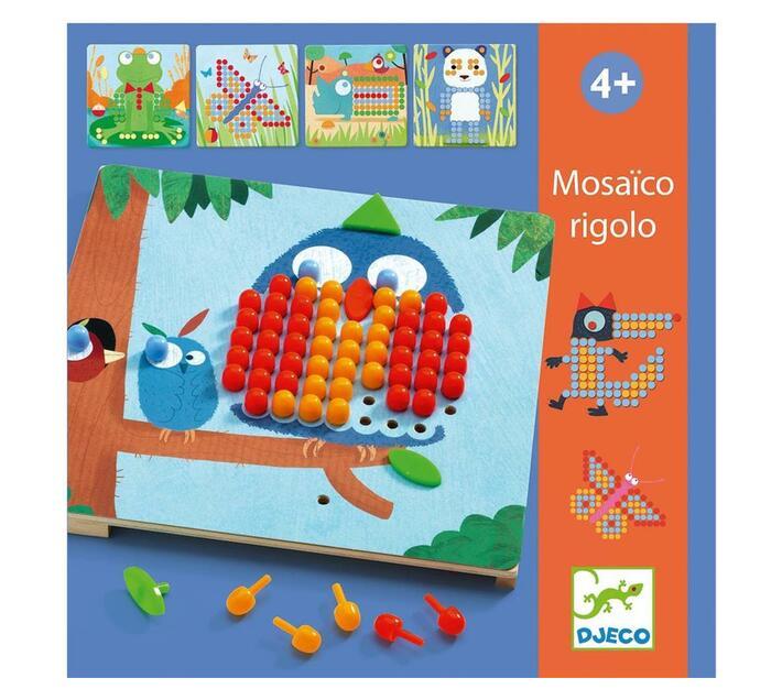 Djeco Educational Game- Mosaico Rigolo