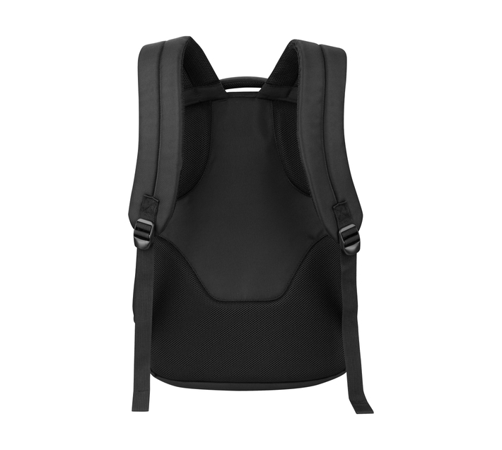"""Volkano Suave Series 15.6"""" (39.6 cm) Backpack in Black With Padded Laptop Compartment and Trolley Strap Ideal for Use When You're Dashing to Catch Your Next Flight"""