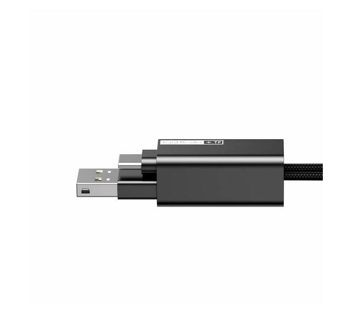 Baseus Pendant MicroSD Card Reader USB Type-A 2.0 to Type-C Cable - Black