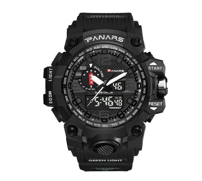 PANARS Multi-functional Sport Digital Watch - Black