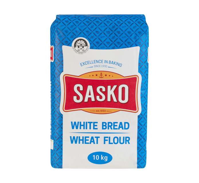 SASKO White Bread Wheat Flour (1 x 10kg)