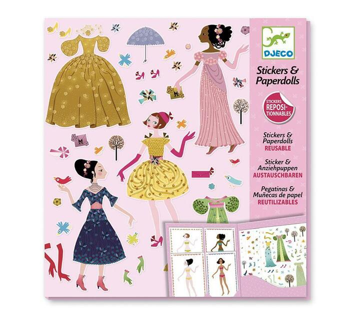 Djeco Stickers and Paper Dolls- Dresses through the Seasons