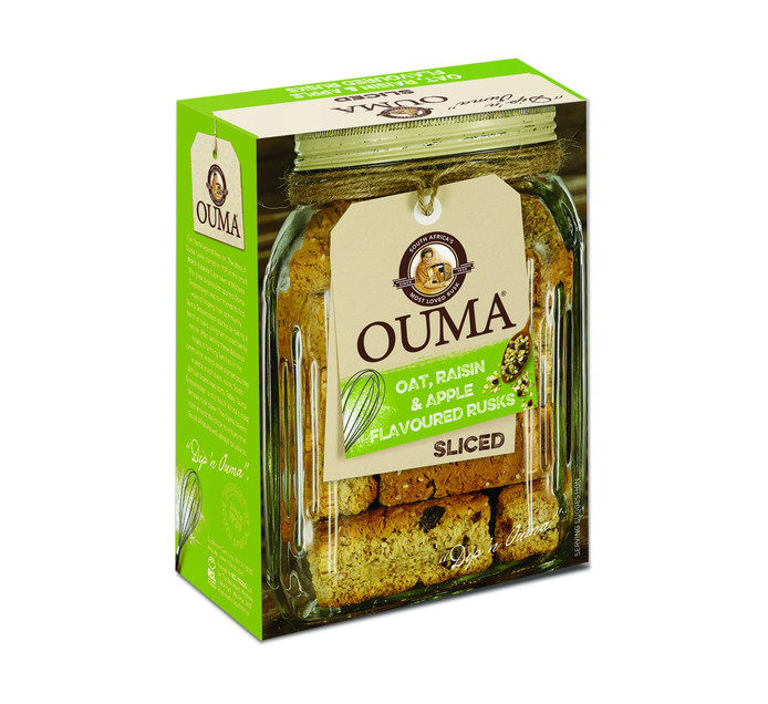 Ouma Ouma Sliced Rusks Oat,Raisin and Apple (1 x 450g)