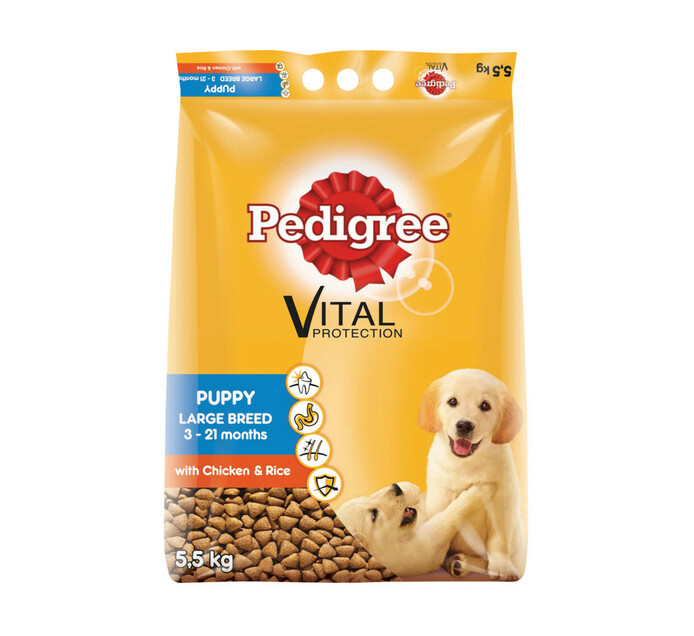 PEDIGREE Puppy Dry Dog Food Chicken and Rice (1 x 5.5kg)