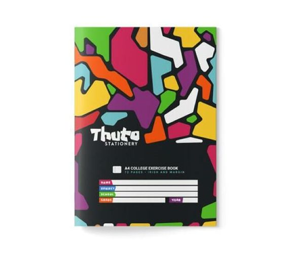 Thuto 72 Pages Irish & Margin Exercise Book - Jazzy Edition