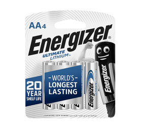 ENERGIZER 4 Pack AA Lithium Batteries