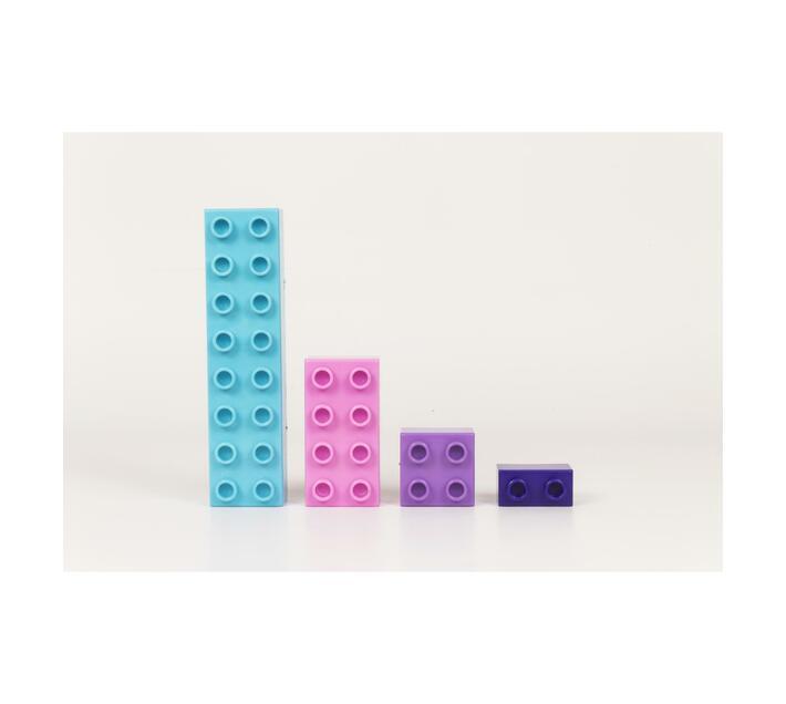 Bubble Gum Coloured Blocks 1kg Pack
