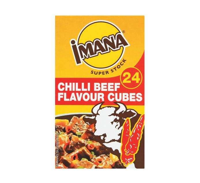 Imana Stock Cubes Chilli Beef (1 x 24's)