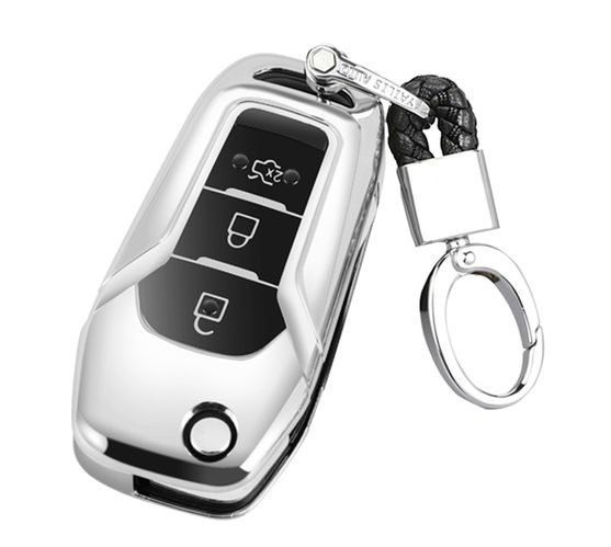 T4U Ford Car Key Cover - Electroplated (Chrome and Piano Black)